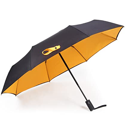 HKKIJIN Double Windproof Con Impermeable Cubierta De Viaje Paraguas Automáticamente Abrir Y Cerrar,Yellow-