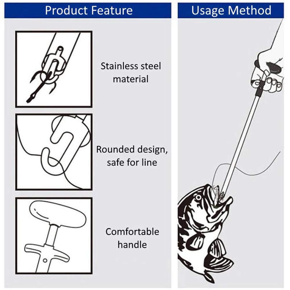 S/éparateur de Poissons Facile Outil de p/êche s/éparateur extracteur Portable d/écouplage Rapide Aucune blessure ZREAL Easy Fish Hook Remover Fishing Tool