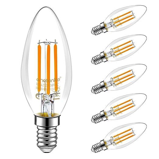 Emotionlite E14 LED Bombillas, bombillas de filamento LED, 4W (40W equivalente),