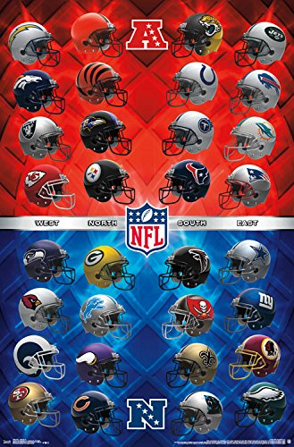 Trends International Wall Poster NFL Helmets, 22.375