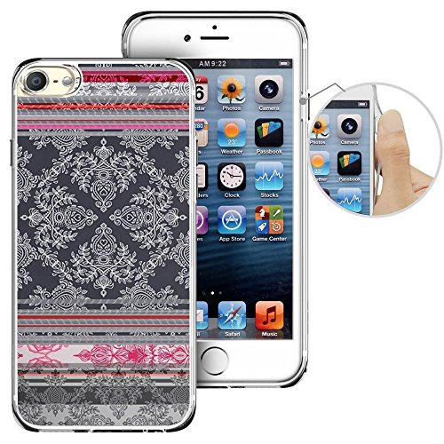 (for iPod Touch 6th Case, LAACO Beautiful Clear TPU Case Rubber Silicone Skin Cover for Apple iTouch 6 - American Indian Ethnic Hybrid Fancy)