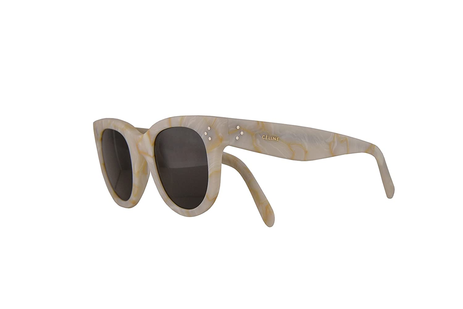 4c85ff2c5d0 Celine CL41053 S Baby Audrey Sunglasses White w Brown Lens 47mm 21JNR  CL41053S CL 41053 S  Amazon.co.uk  Clothing