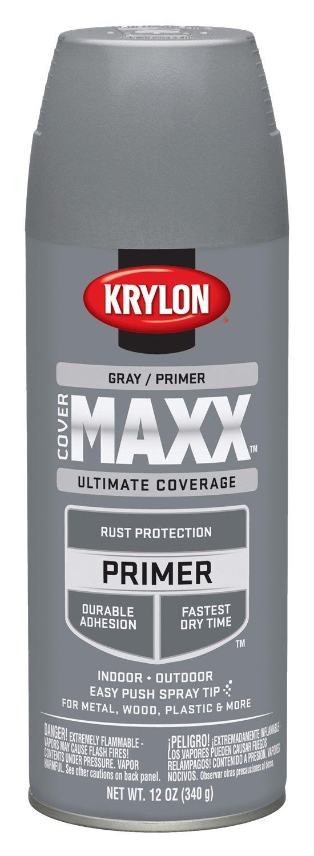 Krylon K09183007 COVERMAXX Primer, Gray,, 12 Ounce