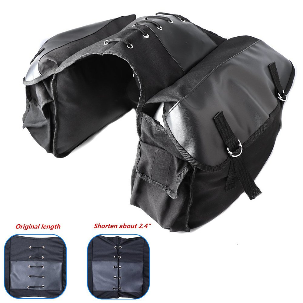 KEMIMOTO Motorcycle Saddle Bags Bicycle Bike Travel Panniers Bags for Scooter Honda Suzuki Yamaha Black