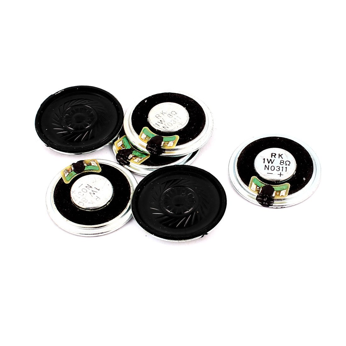 uxcell 1W 36mm Diameter 8 Ohm Internal Mini Magnet Speaker Loudspeaker 6Pcs