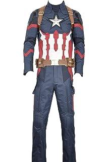EVRYLON Disfraz de capitán américa Adulto para Carnaval Color Azul ...