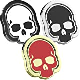 Cell Phone Finger Ring Holder, IHUIXINHE 3PCS Skull Skeleton Design 360° Adjustable Ring Grip Kickstand for iphone 7 Plus 6 6S 5 5C 5S, Samsung Galaxy S8 S7 Edge, Tablet, Fit for Magnetic Car Mount