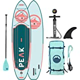 Peak Expedition Inflatable Stand Up Paddle Board — Durable Lightweight Touring SUP with Stable Wide Stance — 11' Long x…