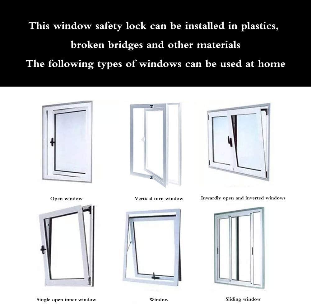ZONJIE Cerradura de restricci/ón de ventana para ni/ños Cerraduras de cable de puerta de seguridad para beb/é infantil Cerradura de alambre de seguridad