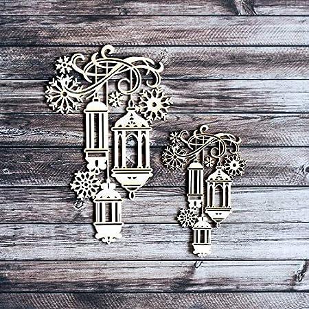 Holzfigur Scrapbook Holzdeko Holzset Naturholz Dekoholz Zahnr/äder Holzelemente Chipboard