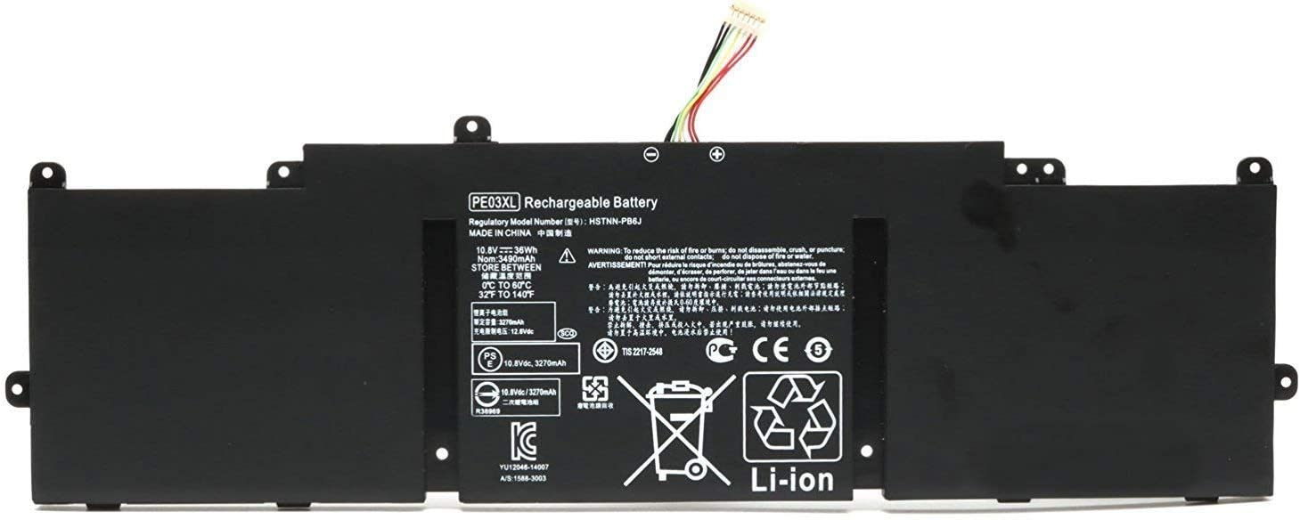 Ding New PE03 Replacement Laptop Battery Compatible with Hp Chromebook 210 G1 11 G4 HSTNN-PB6J HSTNN-LB6M 766801-421 766801-851 767068-005 Series PE03036XL PE03XL
