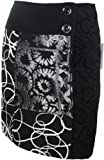 #604 Damen Designer Patchwork Rock Schwarz Winter Gr 34 36 38 40 42 44 46 48