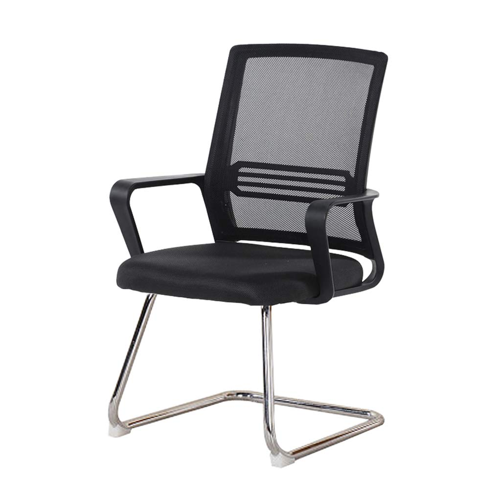 BLACK Black Computer Chair, Thicken Comfortable Durable Chair Hotel Hotel Club Chair Classroom Meeting Room Reception Room Chair (color   Black)