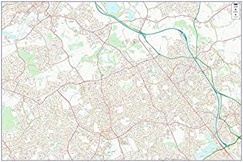Map North West London.City Street Map North West Central London Colour Double Side