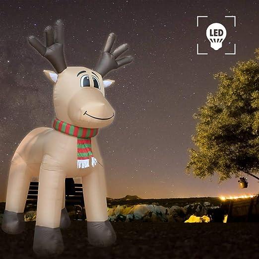 FESTNIGHT Reno De Navidad Inflable con 5 LED IP44 500 Cm XXL 45 W ...