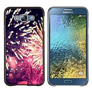 LECELL--Funda protectora / Cubierta / Piel For Samsung Galaxy E7 E700 -- fuegos artificiales 4'th día de la independencia de julio --