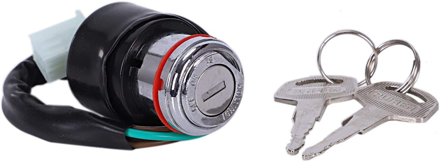 ACAMPTAR 6-Wires Motorcycle Scooter Security Ignition Electric Door Lock Fit For Gn 125