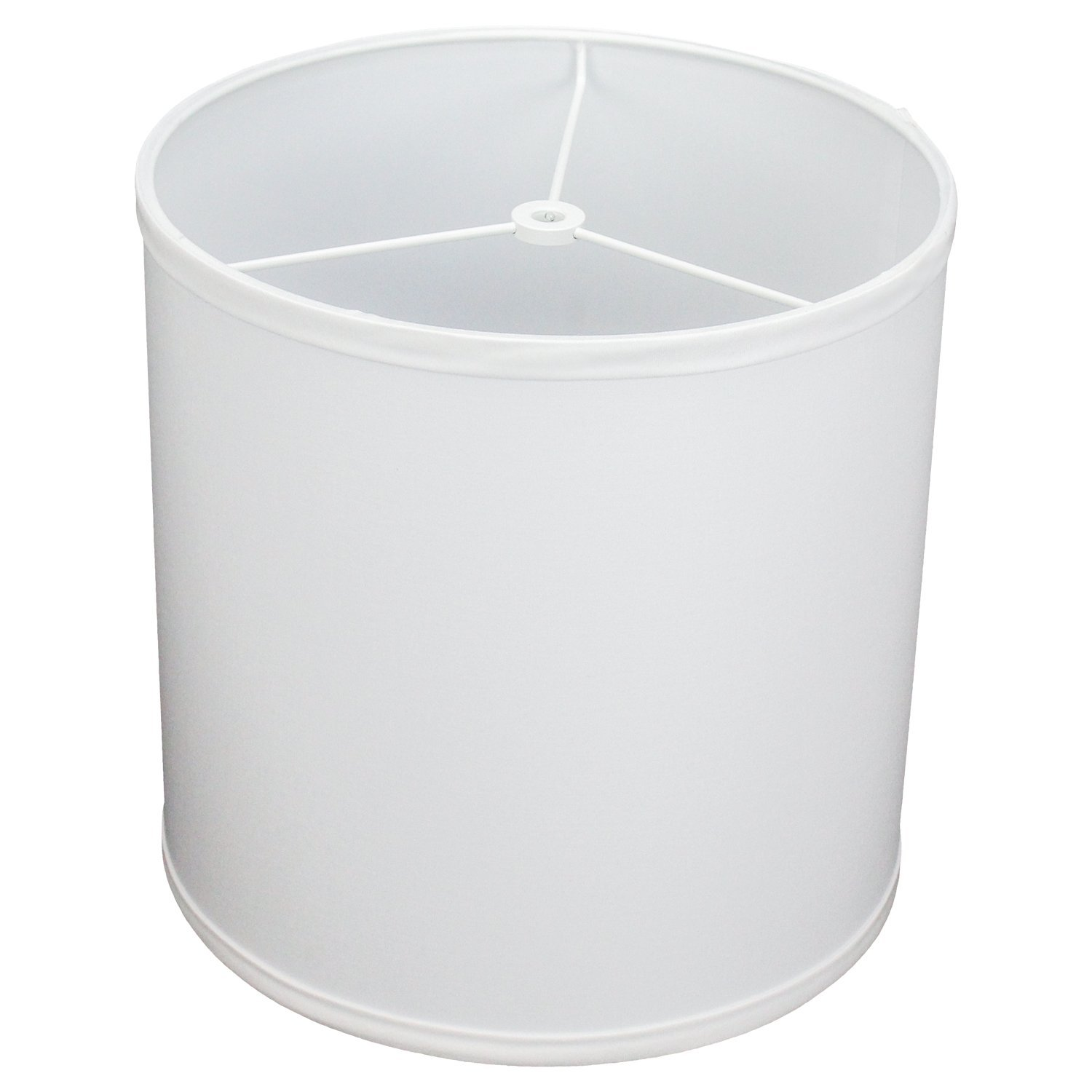FenchelShades.com 10.5'' Top Diameter x 10.5'' Bottom Diameter 10.5'' Height Cylinder Drum Lampshade USA Made (White)