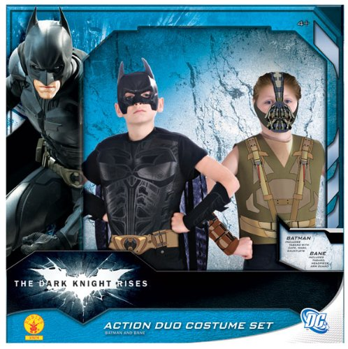 Batman: The Dark Knight Rises: Batman Vs Bane Action Duo Dress Up Set (Black) (Duo Halloween Costumes For Kids)