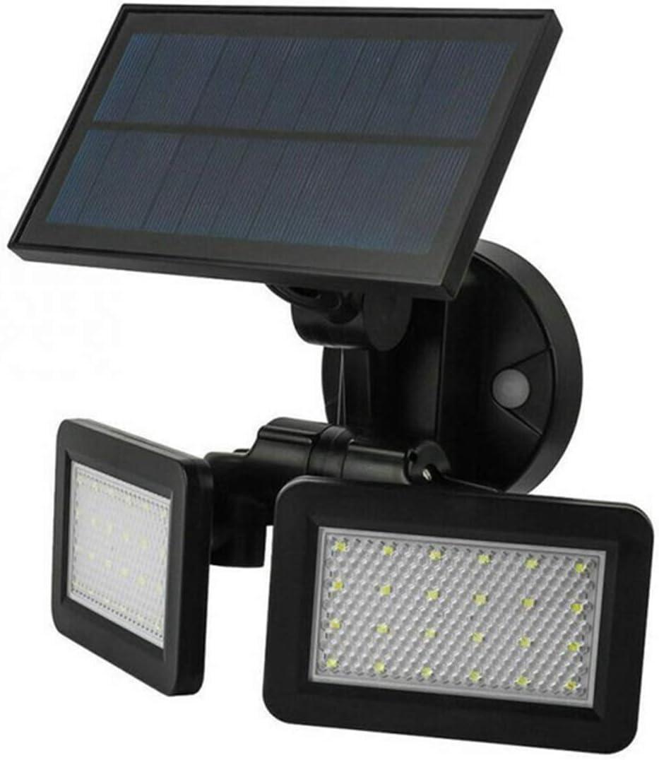 ERQWV Foco luz de Pared Lámpara de Calle con energía Solar con energía Solar Impermeable 180 Grados giratorios 48 led inducción de Radar Plegable