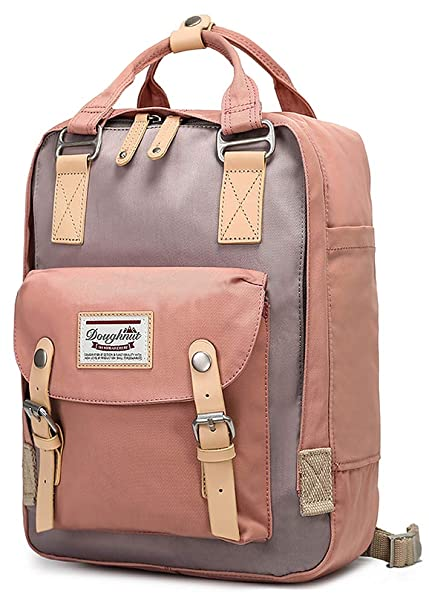 c526221dc8a3 goldwheat Backpack Water-resistant School Bag for Women Girls Vintage  Bookbag Laptop Daypack,Pink