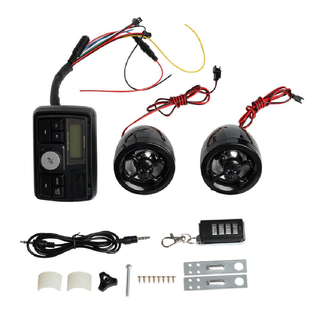 Motor Handlebar Audio System USB/SD FM Radio Amplifier Speaker MP3 Skull Generic