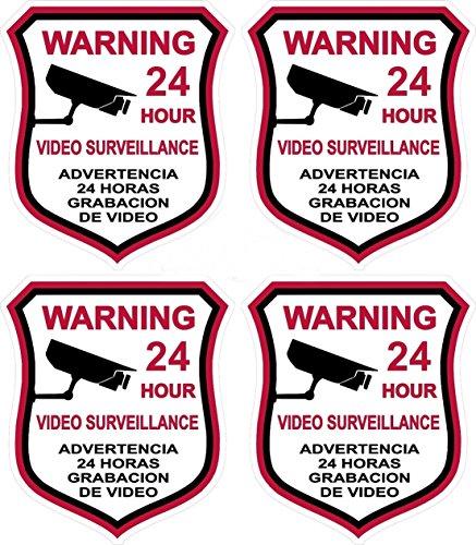 4-pcs-warning-security-stickers-signs-video-burglar-alarm-surveillance-decals