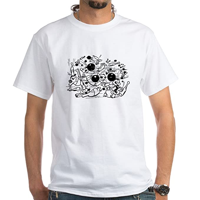 1ec7147a Image Unavailable. Image not available for. Color: CafePress Funny Bowling  Fight 100% Cotton T-Shirt ...