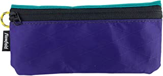 product image for Flowfold Women's Small Zipper Pouch Wallet - Lightweight - Everyday Carry-All Wallet - Made in USA - Purple/Aqua