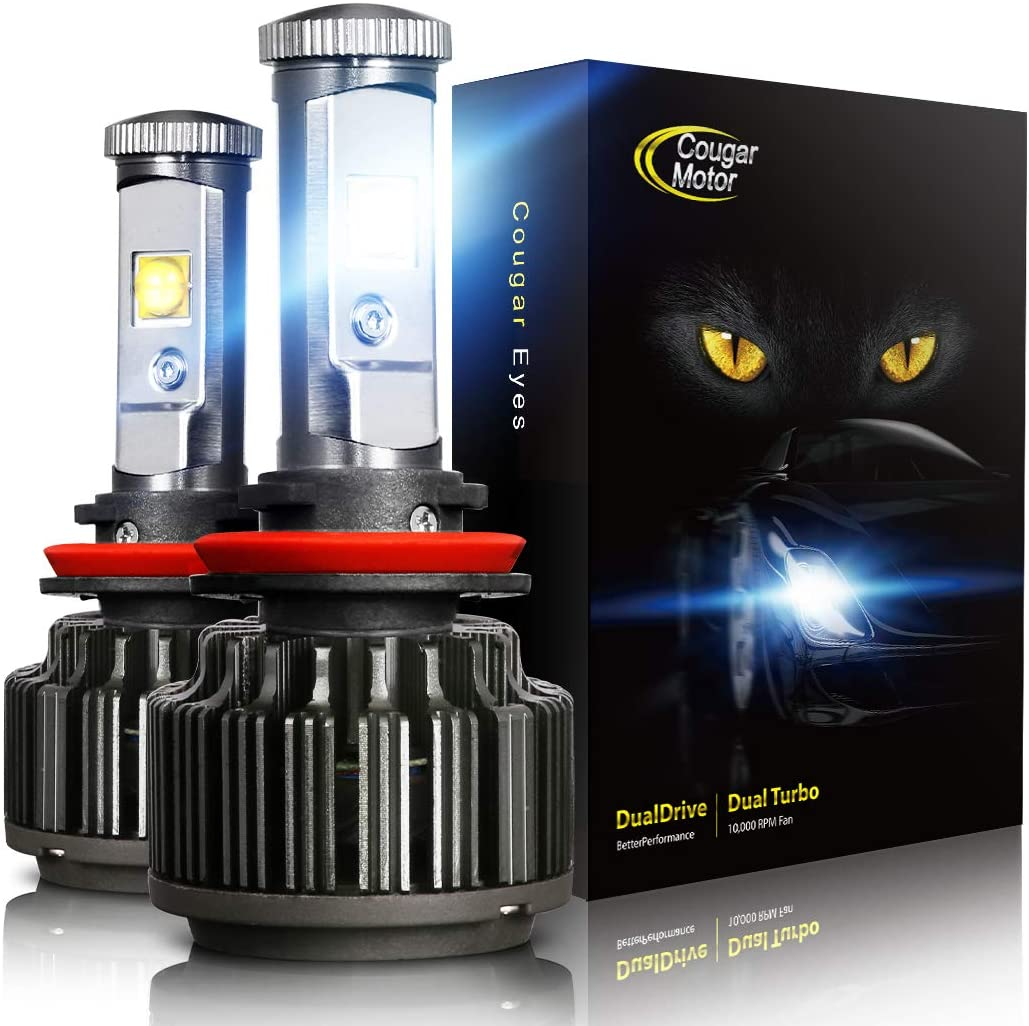 Cougar Motor LED Headlight Bulbs All-in-One Conversion Kit - 9006-7,200Lm 6000K Cool White CREE