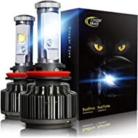 $42 » Cougar Motor LED Headlight Bulbs All-in-One Conversion Kit - H11 (H8, H9) -7,200Lm 6000K Cool White CREE