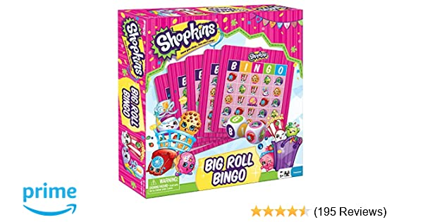 Shopkins Big Roll Bingo Game Kids Girls Toy For 2-6 players ages 4 and up