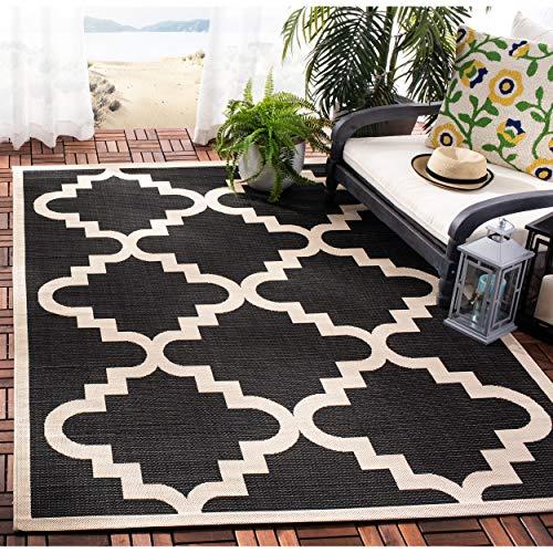 Black Beige Rug - Safavieh Courtyard Collection CY6017-266 Black and Beige Indoor/ Outdoor Area Rug (5'3
