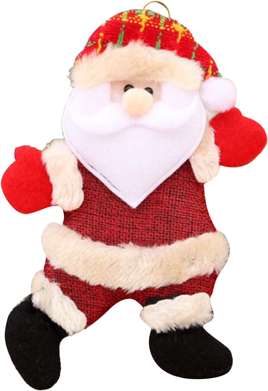 AOYEZIUS Xmas Santa Toy Christmas Plush Wall Home Decor Elk Snowmen Hanging Ornament,Santa Claus,L