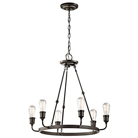 Kichler 42708OZ, Lucien Large 1 Tier Chandelier Lighting, 6 Light, Olde Bronze