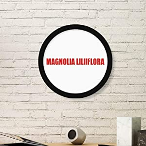 cold master DIY lab Magnolia Liliiflora Flower Red Round Frame Art Painting Wooden Home Wall Decor
