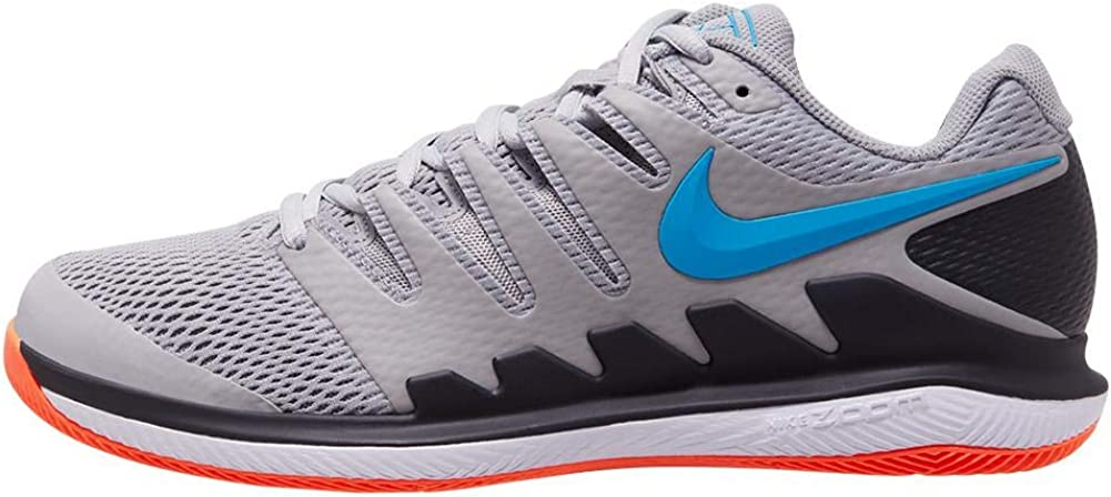 B07TLNDCSP Nike Men's Air Zoom Vapor X Tennis Shoes Light Smoke Grey and Blue Hero Size 8.5 61f-P4W88qL.UL1001_