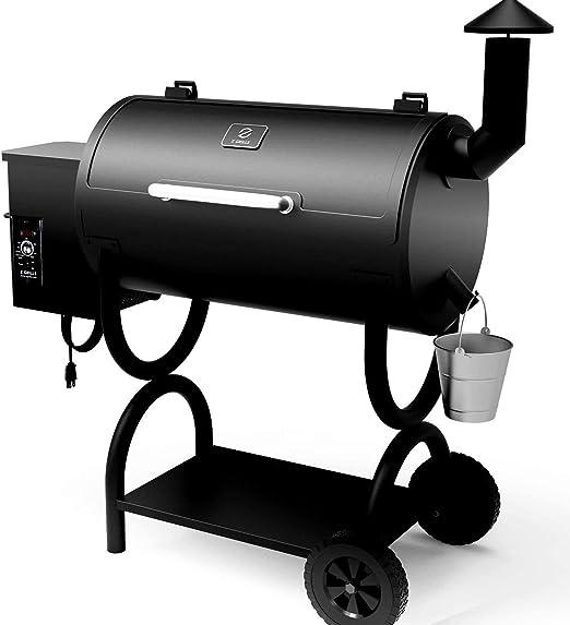 Z Grilles à pellets Grill Pro 7 EN 1 électrique Bois Pellet Smoker Grill – 550 Pieds carrés en zone de cuisson pour extérieur Barbecue grill rôti Bake