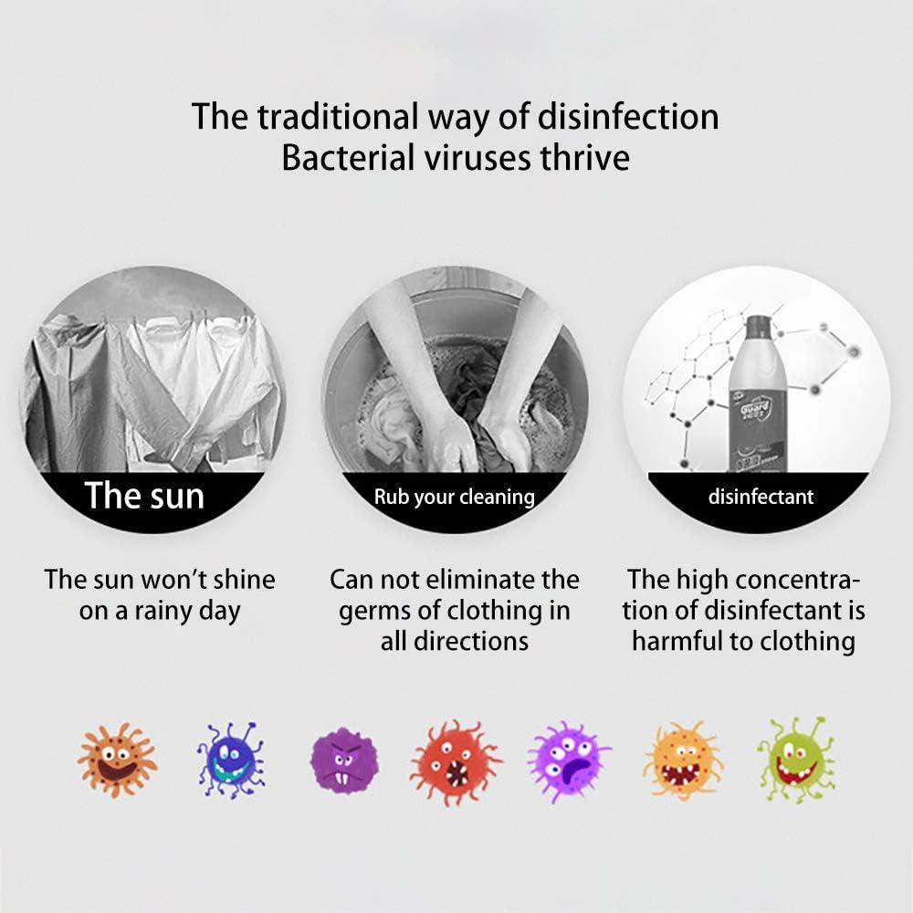 sac de st/érilisation UV LED rechargeable USB d/ésinfectant d/ésinfectant UV-C et /étui de nettoyage tuent 99,9/% des germes sac de d/ésinfection ultraviolet portable Porcyco Bo/îte de d/ésinfectant UV