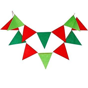 Amazon.com: actlati 3 m triángulo cadena Banderas Bandera de ...