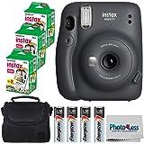 Fujifilm Instax Mini 11 Instant Camera - Charcoal Grey (16654786) + 3x Packs Fujifilm Instax Mini Twin Pack Instant Film…
