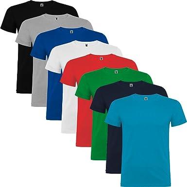 Pack de 8 Camisetas de manga corta para hombre, 100% Algodón ...