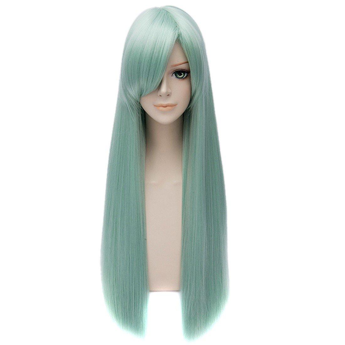 The Seven Deadly Sins Elizabeth Liones Green Straight Long Women Cosplay Wigs QIYUN.Z W111A1163/1ONE