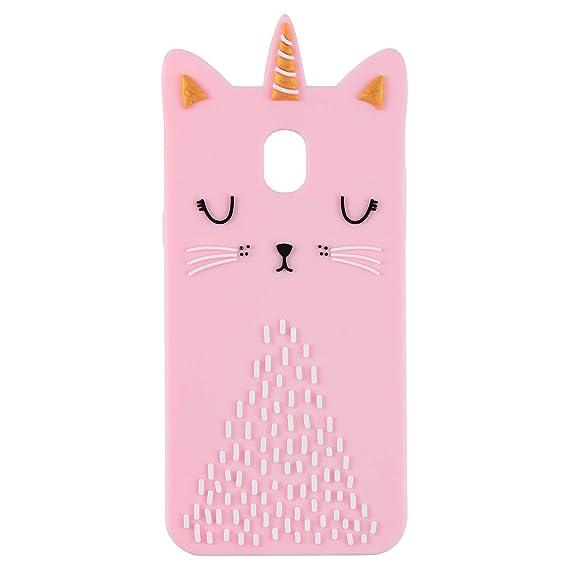 newest collection 4949b dabcb Funermei Cat Unicorn Case for Samsung J7 2018(J737),J7 Refine J7 V 2nd Gen  Silicone 3D Cartoon Animal Pink Cover,Kids Girls Cool Cute Cases,Kawaii ...