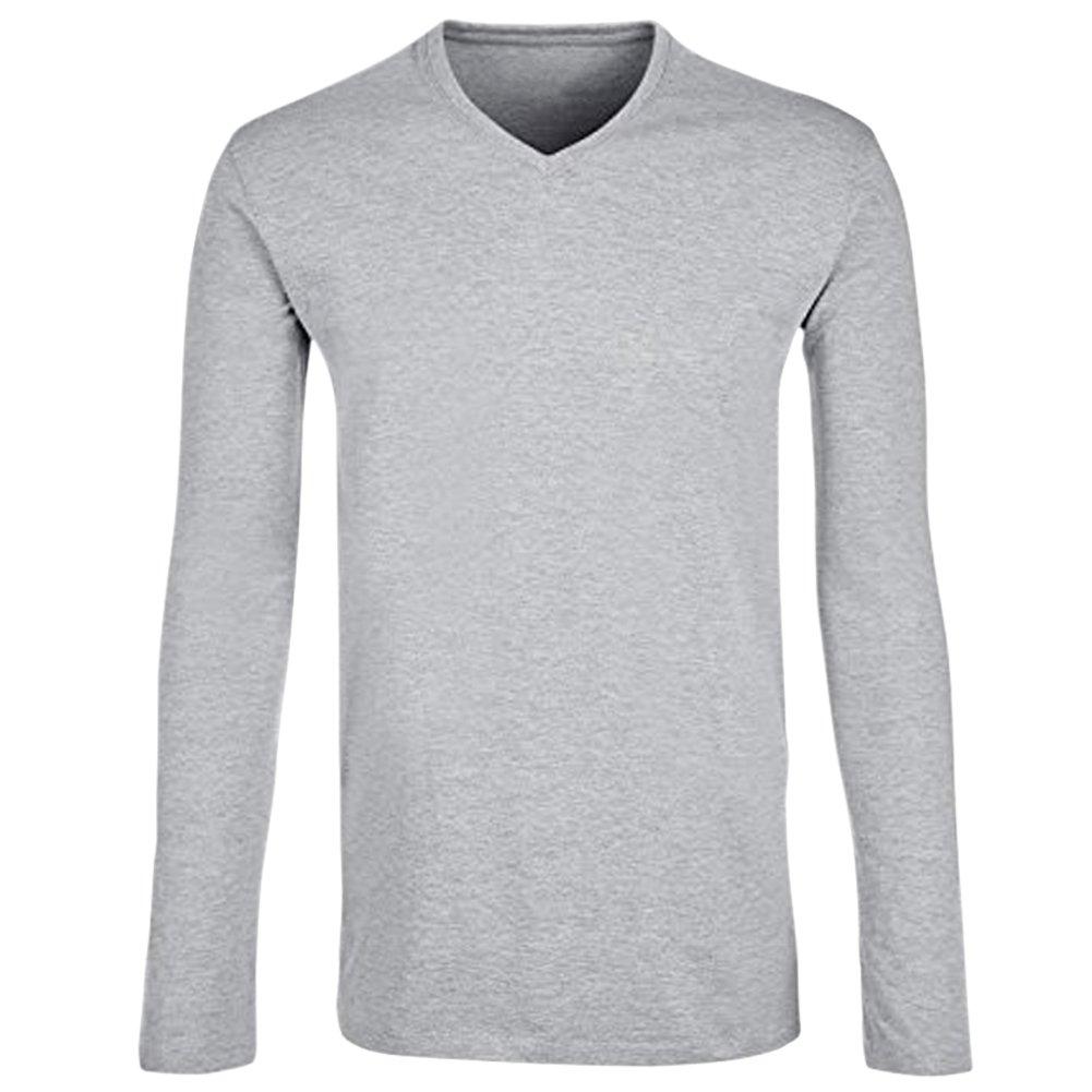 TAIPOVE Maglietta Uomo a Manica Lunga T-Shirt di Cotone Senza Etichetta  Collo V 2d473dd5d55