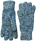 Isotoner Women's Solid Chenille Knit smarTouch Gloves, Sea Glass, One Size