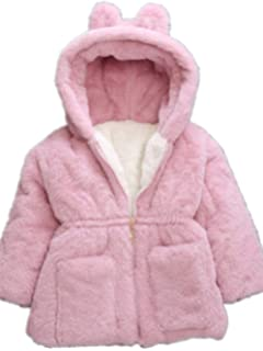 LNGRY Baby Toddler Girl Winter Coat Hooded Overcoat Jacket Warm Clothes