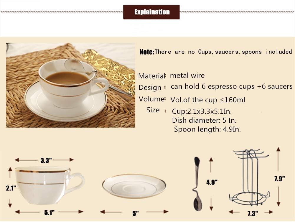 Yontree 6 Hooks Mugs Tree Cup Rack Dishes Organizer Style E