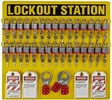 Brady Padlock, Hasp, and Tag Lockout Station, Includes 36 Steel Padlocks