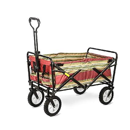 GARDEN CAR ZLMI Carro de jardín Plegable Gran Capacidad carros supermercado Pesca comestibles Cochecito portátil Cuatro